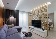 Cozy apartment with eco-style elements