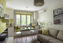 Positive atmosphere, spring colors in a nicely decorated small apartment - 23 square meters